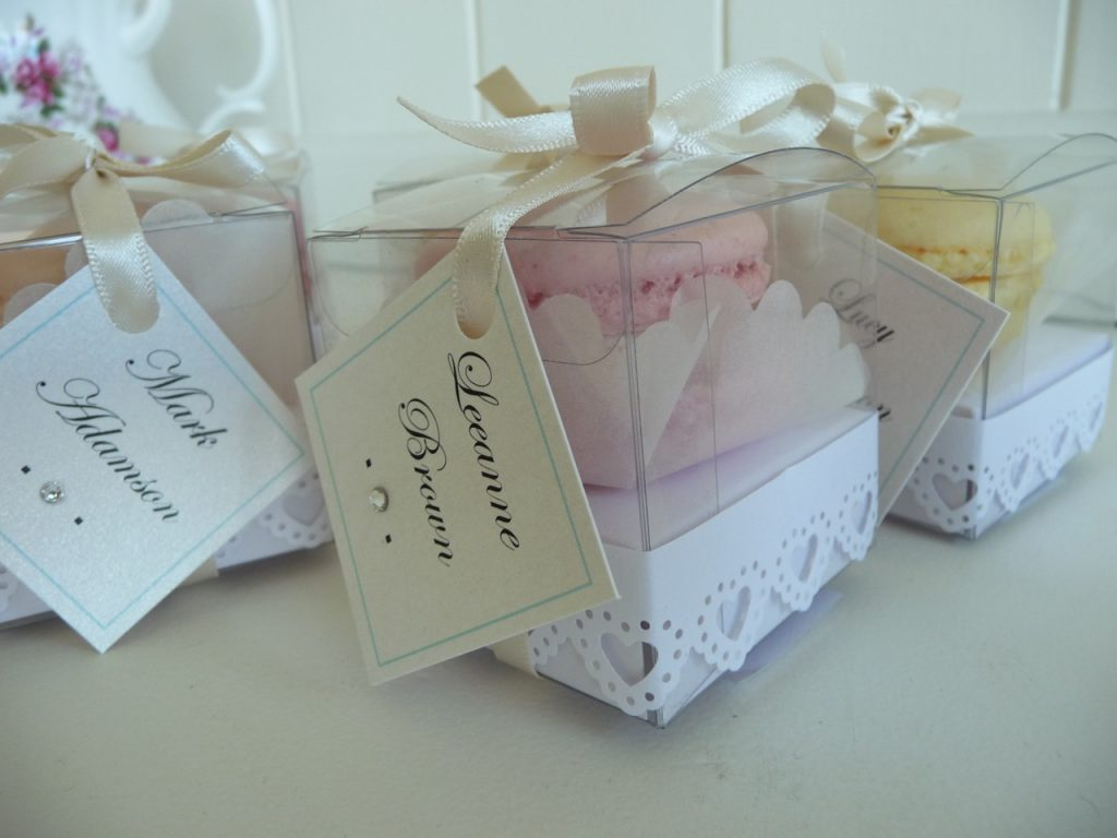 Clear Boxed Macaron Favours Just Yours Weddings