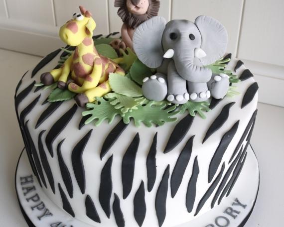 animal zebra print cake