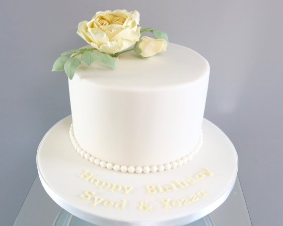 English Rose Celebration cake